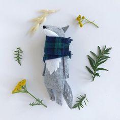 Earth friendly animal toys and rag dolls by AmuruToys on Etsy Fabric Animals, Felt Animals, Felt Crafts, Kids Crafts, Wolf Stuffed Animal, Pet Organization, Handmade Stuffed Animals, Fabric Dolls, Rag Dolls