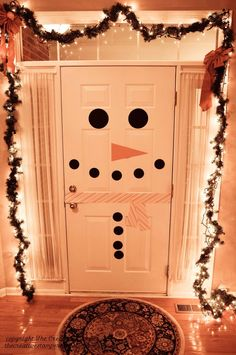 Snowman Door on inside!