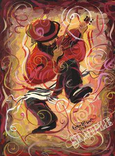 Kleizmer Music Print Wall Art Decor Judaica Chassid by PearlBrush, $21.99