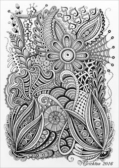 Viktoriya Crichton_Ukraine Nikolaev_Zentangle, graphic, hand-made, pattern, tangle