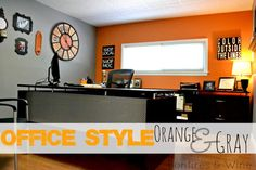 Bonfires and Wine: Orange & Gray - Office Style