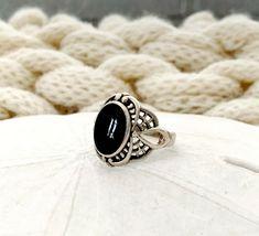 Kabana Southwestern Sterling Silver Black Onyx Filigree Spiderweb Size 6.5 ring #Kabana Sterling Jewelry, Sterling Silver, Black Onyx, Filigree, Gemstones, Rings, Ebay, Gems, Ring
