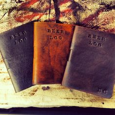 Beer Journal, Log, List, etc [][][] Custom Leather Beer Journal by ARLeather on Etsy, $17.00