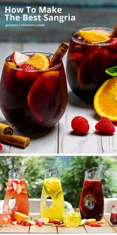 Alcohol Drink Recipes, Sangria Recipes, Mixed Drinks Alcohol, Smoothie Recipes, Smoothies, Sangria Drink, Cocktail Drinks, Wine Cocktails, Liquor Drinks