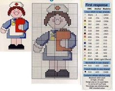 0 point de croix infirmiere - cross stitch nurse