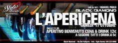 L'APERICENA – BLACK DIAMOND – CAGLIARI – GIOVEDI 17 OTTOBRE 2013