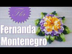 """Vídeo Aula - Flor Alexandra """"Marcia Rezende - Arte em Crochê"""" - YouTube"""