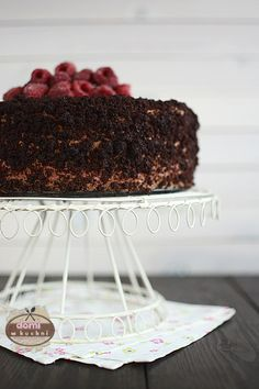 Tort malinowo-czekoladowy | Domi w kuchni Tiramisu, Ethnic Recipes, Tiramisu Cake