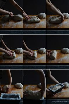 Bread Loaf Shaping (wet dough) / Formatura Filone di Pane