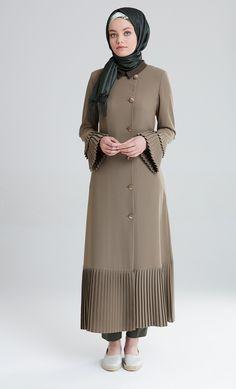 M5180 HAKI Modest Dresses, Cute Dresses, Casual Dresses, Abaya Fashion, Fashion Dresses, Moslem Fashion, Long Midi Dress, Hijab Style, Hijab Fashion Inspiration