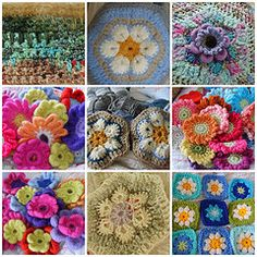 selection of crochet flowers over the last 2years