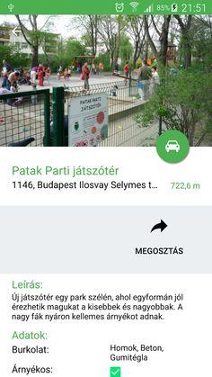 Ez az alkalmazás egy gyűjtemény, melyben megtalálhatod Budapest összes játszóterét, játszóházát és kalandparkját.