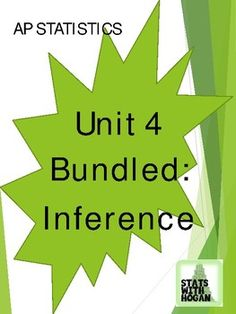 This is a growing bundle that will contain all 17 lessons for the Inference Unit. The lessons included in this bundle: -Confidence Intervals (3 lessons: Intro, proportions, and means) -Significance Tests (3 lessons: Intro, proportions, and means) -Comparing two Populations (4 lessons: confidence intervals and significance Chi Square, Ap Statistics, Inference, Algebra, Homework, Confidence, Notes, The Unit, Style