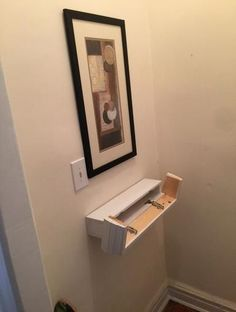 How to make a Floating Shelf with a secret hidden compartment. Hidden compartment can be opened without removing any display itms from the shelf.: