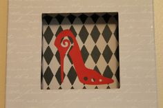 FREE SHIPPING  AND  NEW PRICE  RED SHOE Wall Art by SarahKCreations on Etsy, $8.00