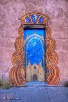 Painted door. New Mexico