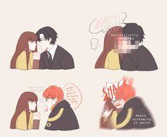 Jumin - MC || Luciel - MC || kiss