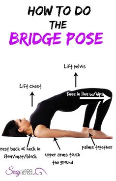 Bridge yoga pose helps to alleviate stress and reduce anxiety and insomnia