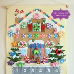 Gingerbread House Advent Calendar Pattern  24 di thelullabyloft
