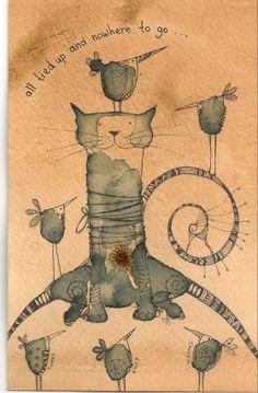 «Связанный Cat» от Джилли Хендерсон