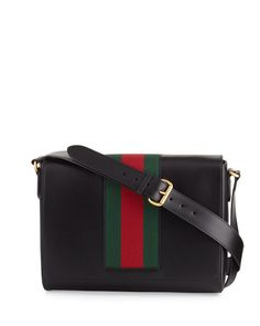 4eee8827383 Gucci Mens Leather Messenger Bag w Web