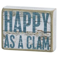 Add a pop of style to your living room mantel or master suite dresser with this charming wood box sign, showcasing a typographic motif and weathered finish.