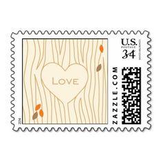 Fallen in Love Postage http://www.zazzle.com/fallen_in_love_postage-172514693591761108?denomination=34&rf=238194283948490074&tc=pfz #wedding #tree #leaves #nature #fall #love #postage #zazzle