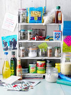 Store cupboard shelf