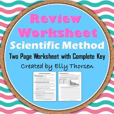 Middle school students complete a review worksheet over much of the scientific method. Great for a review before a test or a refresher midway through the year. 6th Grade Science, Science Student, Middle School Science, Science Classroom, Scientific Method In Order, Scientific Method Worksheet, Easy Science Experiments, Earth Science, Teacher Resources