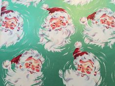Vintage Gift Wrapping Paper  Metallic Green by TheGOOSEandTheHOUND