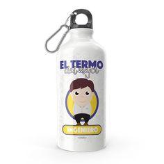 Termo - El termo del mejor ingeniero, encuentra este producto en nuestra tienda online y personalízalo con un nombre. Lemonade, Water Bottle, Drinks, Engineer, Carton Box, Sons, Training, Store, Creativity