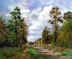 La route de Louveciennes, à la lisière de la forêt Camille Pissarro                                                                                                                                                                                 Plus
