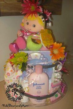 diaper cake girl shower gift baby