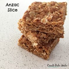 We love Anzac biscuits in our house and I CANNOT believe it's taken us this long to get around to making this easy Anzac Slice! I decided to turn our favourite afternoon tea treat into a slice one afternoon a couple of weeks ago as a treat for the boys once they got home from kindy. They are both always ravenous when they get home and I've learnt from past tantrums experience that having a snack ready and waiting for them helps reduce some of our witching hour chaos.
