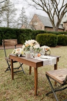 table for two - backyard anniversary