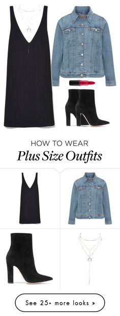 """""""Untitled #1184"""" by karlamichell on Polyvore featuring Levi's, Gianvito Rossi, Charlotte Russe and MAC Cosmetics"""