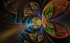Abstract Fractal Circles Color