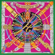 Hermès | Ceintures et Liens  Ceintures et Liens Hermes silk twill giant plume scarf, 140cm Designed by Laurence Bourthoumieux Ref. : H432658S 25