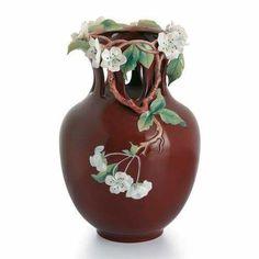 Vase, looks like cherry tree