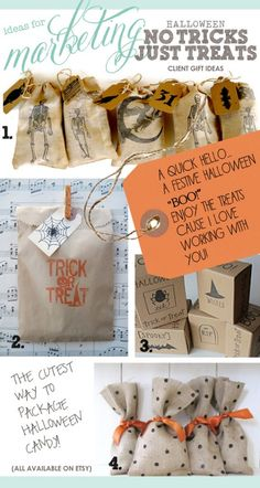 halloween gift ideas, marketing gift Halloween Sale, Holidays Halloween, Halloween Gift Bags, Halloween Office, Halloween Treats, Halloween Decorations, Halloween Party, Realtor Gifts, Work Gifts