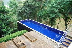 contemporary pool designs wood decks
