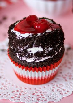 Black Forrest Cupcakes!  Easy and delicious.
