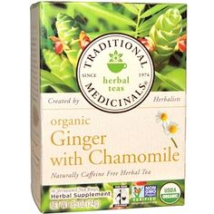 Traditional Medicinals Organic Ginger Herbal Tea, 16 Tea Bags (Pack of Home Remedies For Gout, Gout Remedies, Natural Home Remedies, Health Remedies, Herbal Teas, Natural Cancer Cures, Green Tea Benefits, Vitamins For Women