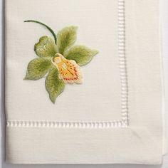 Orchid CatherineNapkin - Ivory Cotton – Henry Handwork