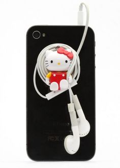 HELLO KITTY SMARTPHONE MASCOT :: This phone charm features Hello Kitty in a classic style with a suction cup to place on the back of your smartphone. Wrap your headphones around Hello Kitty for great organization! Hello Kitty Accessories, Hello Kitty Items, Sanrio Hello Kitty, Iphone Accessories, Owning A Cat, Smartphone, Iphone Cases, Girly, Kawaii