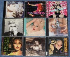 9 Madonna CDs True Blue Hard Candy Early Years Dick Tracy Like a Virgin Prayer