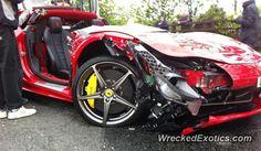 Ferrari 458 Italia crashed