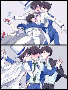 ライン▷▶︎裏稼業じ27a (@lielielie_xx) さんの漫画 | 10作目 | ツイコミ(仮) Manga Boy, Manga Anime, Anime Art, Magic Kaito, Conan, Anime Love, Anime Guys, Detective, Kaito Kuroba