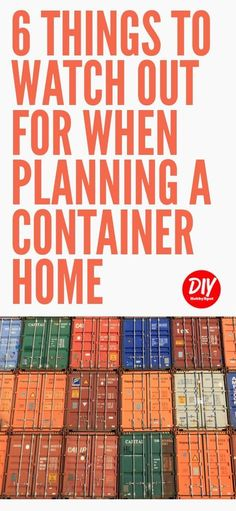 Container Homes are a great way to make your tiny house dreams come true. Using shipping containers can present some challenges. Here are some container house planning tips to help you out. #containerhouse #tinyhouse #ShippingContainerHomePlans