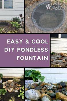 One of the Easiest (and coolest) DIY water features you can make this pondless fountain in an afternoon. One of the Easiest (and coolest) DIY pondless water feature yet. Make this invisible fountain bubbler in an afternoon and enjoy it for years to come! Diy Water Feature, Backyard Water Feature, Ponds Backyard, Backyard Waterfalls, Garden Ponds, Koi Ponds, Diy Water Fountain, Garden Water Fountains, Outdoor Fountains